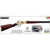 Carabine Uberti Yellow Boy 1866 carbine rifle Anneau de selle type Winchester boitier laiton Canon rond Calibre 44-40 -Ref 32501810