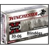 Cartouches- 30-06-Winchester- Super-X-Full métal-Blindées-Target-Ogives de 9.52gr-Ref 22629