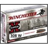 Cartouches-Calibre-308-winch-Winchester-Power point-Super-X- ou- BLINDEES-Ogives -9.52gr-ou-9.72gr-ou-11.66 gr-Boite de 20