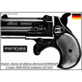 Pistolet alarme Rohm Derringer à blanc ou-à gaz Calibre9 mm R-2 coups-Ref 19878