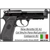 Pistolet Beretta 92A1 Calibre 9 para Semi automatique -Catégorie B1-Promotion-Ref 23118