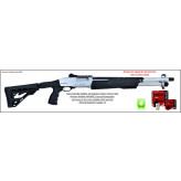 """Fusil- pompe- Armsan-RS X26 MARINE -Cal 12 Magnum-Crosse Synthétique-télescopique-Canon rayé 56 cm-Frein de bouche-""""Promotion""""-Ref 24472"""