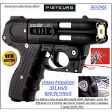 Pistolet défense Jpx4 Piexon Jet Protector JPX 4 PRO 4 coups- rechargeable + LASER NOIR+Holster-Promotion-Ref 33181