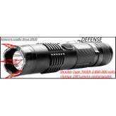 Appareil-défense-électrique-shocker-Lampe de poche-140 lumens+shocker- 3 Millions 800 000 volts- rechargeable sur secteur -Promotion-Ref 27207