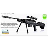 Carabine-air comprimé-Black OPS-Snipper-Calibre 4.5m/m-Crosse synthétique-19.90 joules-+kit lunette-bipied-modérateur -Promotion-Ref 27677
