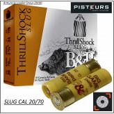 Cartouches-balles-SLUG-Cal 20/70-BASCHIERI-PELLAGRI-Big Game-Thrill-Shock-par 10-Ref 28072
