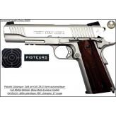 Pistolet-colt-1911-Soft air-Cal 6mm-C02-Blow-Back-culasse mobile-gun-stainless-Full-métal-1.1 joule-17 coups-Ref 28218