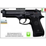 Pistolet-Beretta-92-FS-22-Calibre-22 Lr-Semi automatique-Chargeur 15 coups-Catégorie B1-Promotion-Ref 29847
