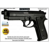 Pistolet-air-C02-Beretta-P 92-Swiss Arms-Cal 4,5mm-Full métal-20 coups-Ref 30834