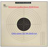 Cibles TAR C50 tir 34X34cm cartonnées par100 cibles-Ref 30896