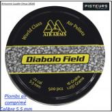 Plombs air comprimé AIR ARMS  Calibre  5,50 m/m Boite de 500-Ref 32586