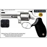 Révolver-Taurus-627-Tracker-Calibre-38-357-magnum-inox-Canon-4-pouces+ compensateur -Catégorie B1-Autorisation-Préfecture-Promotion-Ref 33500