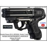 Pistolet défense Piexon Jpx6 Noir Jet Protector 4 coups rechargeable-VENTE LIBRE-Ref 33896