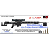 Carabine Ruger Précision rifle Calibre 338 Lapua Magnum  Répétition Crosse réglable-pliante sur le coté-rails picatini +Frein bouche Ruger Magnum-Promotion-Ref 32502160