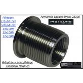 Silencieux adaptateurs Hausken SK156-FILETAGES 1/2x20 UNF-5/8x24 UNF-14x100M-15x100M-17x100M