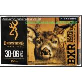 Cartouches grande chasse Browning BXR Calibres 300 winch mag ou  30 06  ou 30 30 (boite de 20) -Type Matrix  Rapid Expansion.10.04 gr.(155 grains)