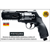 Revolver walther T4E HDR CaIibre 50- balles Caoutchouc DEFENSE 6 coups-11 joules-AVEC 50 BILLES ET 5 C02-VENTE LIBRE-Promotion-Ref 39693
