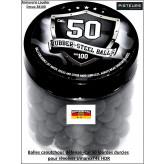 Balles-cal.50-caoutchouc-lourdes-durcies-pour-révolver-défense-T4E6HDR-UMAREX-par-100-Ref 35058