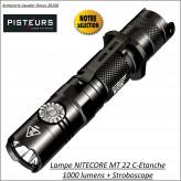 Lampe-torche-Nitecore-1000 Lumens-MT-22C-portée-185m-Rechargeable-Ref 35116