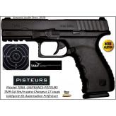 Pistolet-Tara-Calibre-9mm-para-TM9-noir-17 coups-Catégorie B1-Autorisation-Préfecture-Promotion-Ref 35233