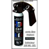 Bombe aérosol GEL100 ml DEFENSE lacrymogène CBM  avec poignée-Ref 37208
