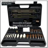 Nécessaire de nettoyage universel pour tous calibres-62 pièces-Promotion.Ref 37614