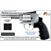Revolver Umarex S40 LEGENDS  Air CO2 Calibre 4,5 mm nickelé Barillet 6 coups plombs jupes ou billes métal Full métal-Ref 38399