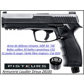 Pistolet T4E HDP 50 Umarex CaIibre 50- balles Caoutchouc DEFENSE 6 coups-11 joules-AVEC 100 munitions et C02 -VENTE LIBRE-Promotion-Ref 39695
