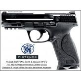 Pistolet Smith et Wesson MP 9C T4E Umarex Calibre 43 balles Caoutchouc DEFENSE Semi auto- Ref 38648