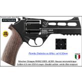 Révolver Chiappa Rhino 50 DS Calibre 4,5mm C02 Acier 6 coups plombs ou billes -Ref 41525