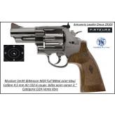 "Revolver Smith & wesson M29 Air CO2 Calibre 4,5 mm Bleui canon 3"" Barillet 6 coups plombs billes métal Full métal-Ref 41718"
