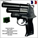 Pistolet SAPL GC 54 DA Défense- balles caoutchouc-double-action-Cal 12/50-Promotion-Ref 7945