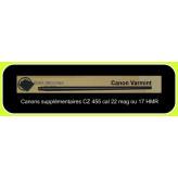 Canon CZ 455 VARMINT lourd Calibre 17 HMR FILETE-supplémentaire- interchangeable-pour carabine de tir  -Répétition + chargeur amovible-Promotion-Ref 781472