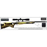 Carabine/CZ/ Mod-455/THUMBOLE/yellow/Cal-22-LR/Répétition/Avec lunette varmint-6x24x50-mil dot lumineux-vert/rouge-Promotion- R778687-bis