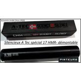 Silencieux  A Tec modèle wave calibre 22 Lr démontable-1/2x20 UNF -Ref 33261-ter