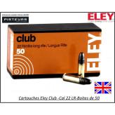 Cartouches-eley-club-22LR-boite de 50-promotion