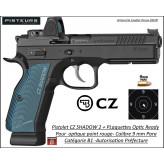 Pistolet CZ 75 SHADOW 2 BLEU Calibre 9 Para-Semi automatique+ Optic Ready-Catégorie B1-Promotion-Avec-Autorisation-Préfectorale-B1-Ref 781000