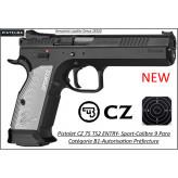 Pistolet CZ 75 TS 2 ENTRY Calibre 9 Para Semi automatique-Catégorie B1-Promotion-Autorisation-Préfectorale-B1-Ref CZ-TS2-784341