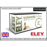 Cartouches-eley-subsoniques-spéciales-silencieux-22LR-Boite 50-Promotion