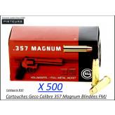 Cartouches 357 magnum Geco FMJ Blindées Par 500-poids 158 grs-Promotion-Ref 247-bis