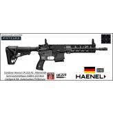 Carabine Haenel Calibre 223 rem CR 223 A1  couleur noire semi-automatique crosse télescopique-Canon10.5 pouces-Avec-Autorisation-Préfectorale-B4-Ref  haenel-cr223-noire