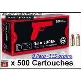 Cartouches 9 para Geco DTX Blindées FMJ Par 500-poids 115 grs-Promotion-Ref geco dtx 9mm-500