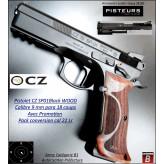 Pistolet CZ SHADOW SP01 BLACK WOOD Calibre 9 Para+ CONVERSION  22Lr Semi automatique-Catégorie B1-Promotion-Avec-Autorisation-Préfectorale-B1-Ref 784296