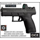 Pistolet-CZ-P-10C-Calibre-9 Para-Semi automatique-Catégorie B1-Promotion-Avec-Autorisation-Préfectorale-B1-Ref 778376