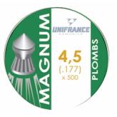 Plombs air comprimé Calibre 4.5mm précision  PISTEURS UNIFRANCE par 500 têtes pointues-Ref 7634