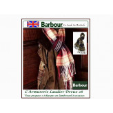 """Echarpes Barbour.Lambswool. Carreaux fond Rouge/Navy.""""Promotion"""".Ref. Re 511"""