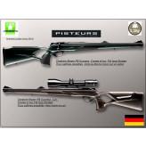 """Carabines-Blaser-R8 -Modèle-""""SUCCESS Stutzen""""- Fût long-Avec inserts cuir- Cal 300 winch mag-Couleur-Marron-foncé-Chargeur amovible-""""Promotion-5695.ttc""""-Ref 15498/d-cuir"""