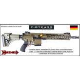 Carabine Haenel Calibre 223 rem CR 223 A1  couleur  vert semi-automatique crosse télescopique-Canon12.5 pouces DETENTE MATCH-Avec-Autorisation-Préfectorale-B4-Ref  haenel-cr223-12.5