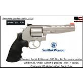 Révolver Smith et Wesson 686 PLUS Performance Center Calibre 357 magnum 7 coups inox Canon 5 pouces -Catégorie B1-Autorisation Préfecture-Promotion-Ref 780214