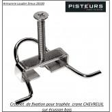 Crochet-chevreuil-fixation-pour-écusson-pour-Trophées-Ref 15816